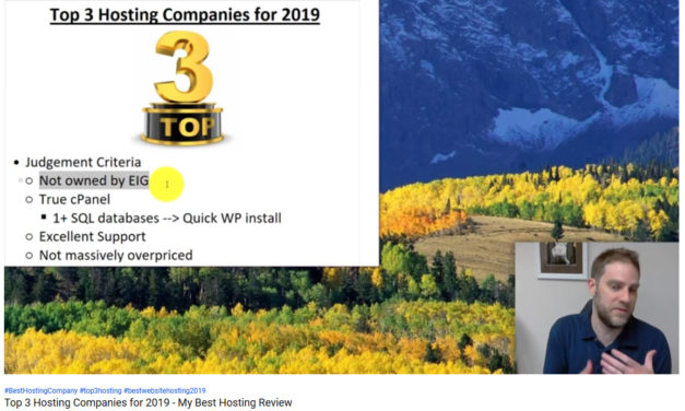 Top 3 Hosting Companies for 2019